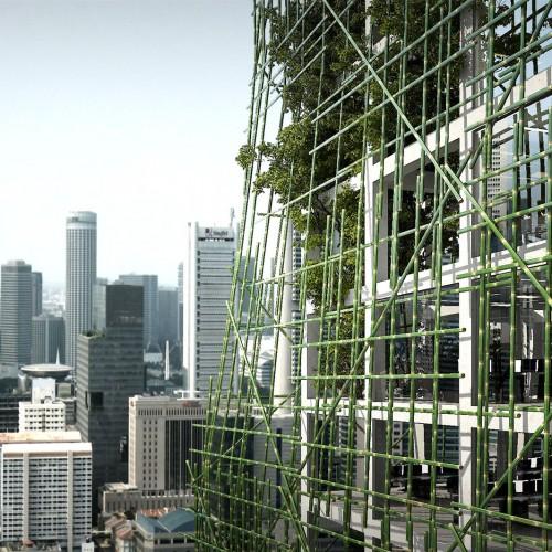 Singapour - détail façade