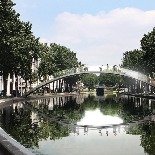 Pont canal St Martin - Vue face